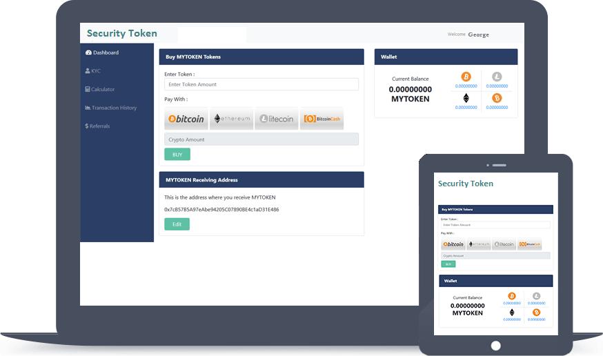 HashCash Security Token Offering (STO) Investor Dashboard